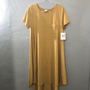 LuLaRoe Carly Dress Mustard Yellow NWT